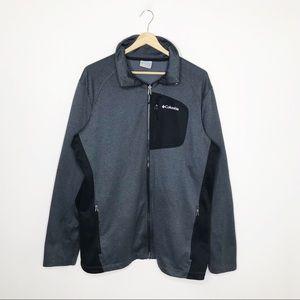 Columbia Men's Gray Black Full Zip Jacket Large